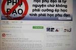 Nhà trường ép học phụ đạo, học sinh phản đối trên Facebook