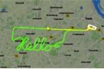 Phi công lái máy bay điệu nghệ, viết chữ, vẽ hoa trên màn hình radar