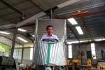 Người đàn ông ở Nghệ An chế tạo máy bay để phun thuốc trừ sâu