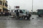 Clip: Xe đón dâu biến dạng sau tai nạn, nhiều người thương vong ở Hà Nam