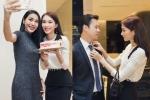 Hoa hậu Đặng Thu Thảo chăm sóc cho bạn trai đại gia trong tiệc sinh nhật Thuỷ Tiên