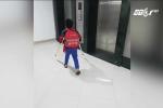 Học sinh gãy chân trong trường Nam Trung Yên đi học trở lại