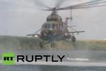 Trực thăng, xe tăng Nga nhả đạn trong cuộc tập trận hoành tráng