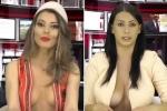 Nữ MC luôn 'thả rông' để ngực trần dẫn thời sự nhận nhiều chỉ trích