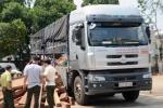 Bắt xe tải gắn mác cơ quan báo chí để chở gỗ lậu