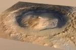 Kinh ngạc sự biến đổi của hồ nước miệng núi lửa trên sao Hỏa