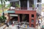 'Thần đèn' ở Nghệ An gặp sự cố khi di dời biệt thự 800 tấn