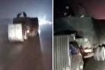 Clip: Màn trộm hàng từ xe đang chạy tốc độ cao như phim hành động