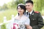 Ảnh cưới lãng mạn của hai chiến sĩ công an trẻ Bắc Giang