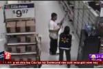 Video: Cảnh sát lái xe đâm nghi phạm trộm đồ siêu thị