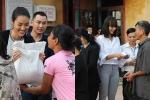 Lan Khuê – Mai Ngô giản dị trao quà cho người dân vùng lũ