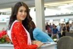 Lệ Hằng diện đầm đỏ, tự tin lên đường 'chinh chiến' Miss Universe 2016