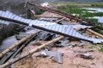 Lốc xoáy càn quét TP.HCM, nhà cửa tan hoang, cây cối đổ la liệt