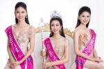 Hoa hậu Đỗ Mỹ Linh và 2 Á hậu đọ vẻ quyến rũ với váy dạ hội