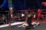 Video hy hữu: Hai võ sĩ Muay Thái dính đòn knock-out cùng lúc