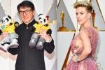 Oscar 2017: Thành Long ôm thú bông gấu trúc, Scarlett Johansson khoe vòng một sexy