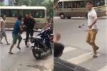 Hai nhóm côn đồ cầm hung khí truy sát nhau trên phố cổ Hà Nội