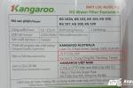 Hóa ra, đa số sản phẩm của Kangaroo sản xuất tại Trung Quốc