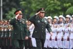 Ảnh: Phó Chủ tịch Quân ủy Trung ương Trung Quốc thăm Việt Nam