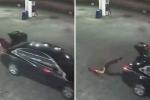 Nghẹt thở khoảnh khắc cô gái bật cốp xe, chạy trốn khỏi kẻ bắt cóc