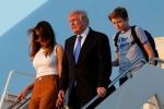 Cậu út nhà Trump bảnh bao trong cuộc đoàn tụ gia đình ở Nhà Trắng