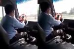 Đuổi việc tài xế vừa lái xe buýt vừa lướt điện thoại trên quốc lộ
