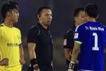 Chủ tịch SLNA : Trọng tài Trung Kiên cố tình công nhận bàn thắng