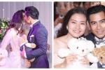 Thanh Bình nồng nàn hôn Ngọc Lan trong tiệc đính hôn