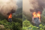 Video: Ô tô 7 chỗ lao xuống vực, bốc cháy ngùn ngụt ở Lào Cai
