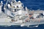 Cận cảnh chiến hạm Mỹ sau cú đâm của tàu hàng Philippines làm 7 thủy thủ thiệt mạng