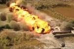 Xem sức mạnh huỷ diệt của xe phá mìn Nga ở Syria