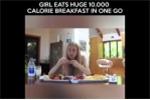 Choáng với sức ăn 'khủng' của cô gái xinh đẹp có 'dạ dày không đáy'