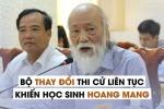 PGS Văn Như Cương: 'Bộ GD-ĐT thay đổi liên tục khiến học sinh hoang mang'
