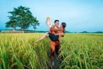 Ảnh cưới bên đồng lúa chín của cặp đôi xứ Nghệ hút dân mạng