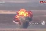 Bị quân Syria dội bom tự chế, xe chở dầu của IS nổ banh