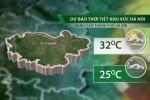 Chiều nay 6/6, nội thành Hà Nội có mưa, nhiệt độ về đêm giảm mạnh