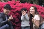 Hoa hậu Diễm Hương chạy show cùng chồng con giữa tin đồn ly hôn
