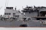 Phát hiện nhiều thi thể trong chiến hạm Mỹ đâm tàu chở dầu