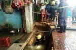 'Hố tử thần' nuốt chửng vỉa hè, tấn công nhà dân ở Quy Nhơn