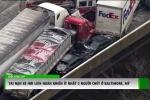 Clip: Hơn 50 xe đâm liên hoàn, toàn bộ cao tốc đóng băng