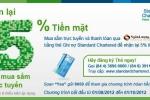 Hoàn lại tiền khi mua sắm trực tuyến