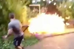 Tẩm xăng đốt rác, thanh niên thiêu trụi cả khu vườn