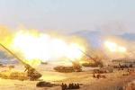 Xem hàng trăm khẩu pháo Triều Tiên đồng loạt nã đạn trong tập trận lớn chưa từng có