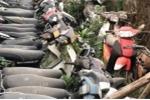 Hy hữu: Trung tá công an đem 20 phương tiện vi phạm đi bán sắt vụn
