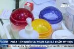 Thẩm mỹ viện ở Hà Nội dùng dung dịch lạ, hóa mỹ phẩm không nhãn mác