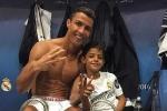 Ronaldo chọn sẵn vị trí thi đấu cho quý tử