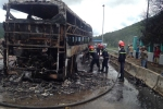 Xe khách giường nằm bất ngờ cháy rụi, 19 hành khách may mắn thoát nạn