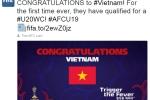 FIFA chúc mừng chiến tích lịch sử của U19 Việt Nam