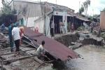 Sạt lở sau mưa lớn, 11 hộ dân ở Hậu Giang phải di dời khẩn cấp