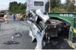 Tai nạn trên cầu Rạch Miễu: Ô tô đi đám cưới đâm container, 6 người thương vong